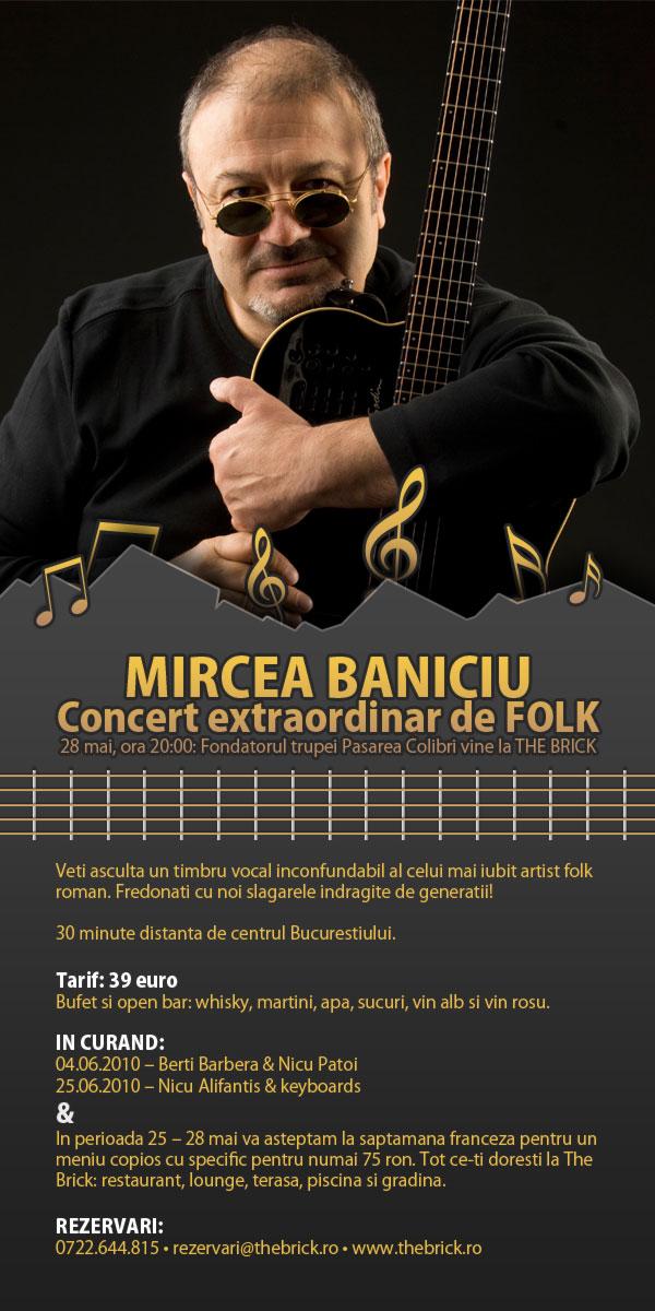 Concert Mircea Baniciu la The Brick
