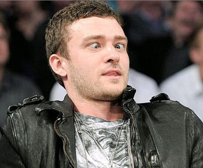 Justin Timberlake cross eyed