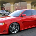 audi a4 tuning red