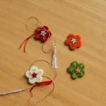 martisoare handmade flori din fetru