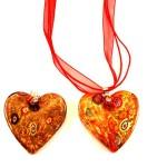 martisor inima din sticla de murano