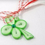martisor quilling trifoi