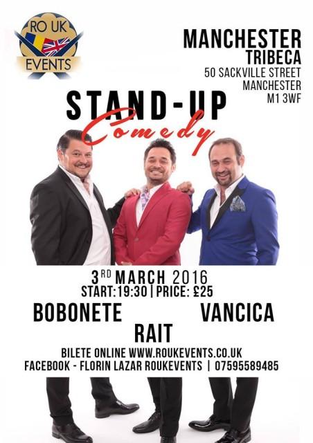 standup comedy cu bobonete 2016 manchester
