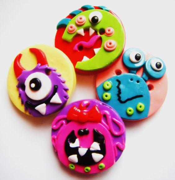 Idei Martisoare fimo - Little Monsters