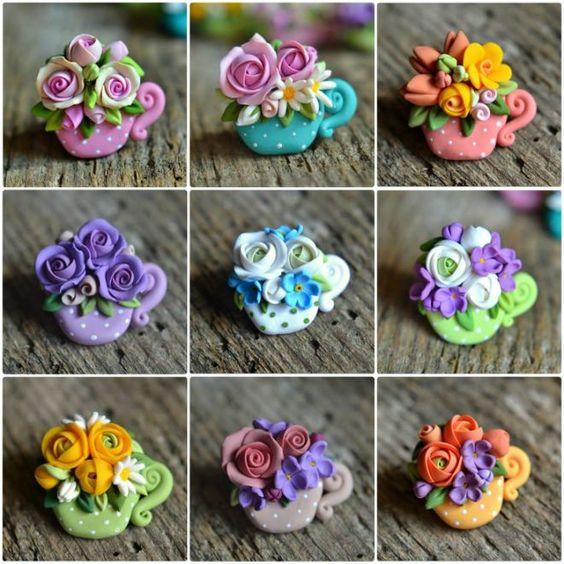 Idei Martisoare fimo flori
