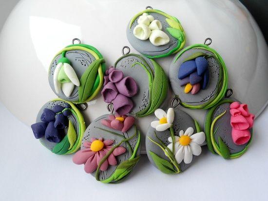 Martisoare fimo - flori
