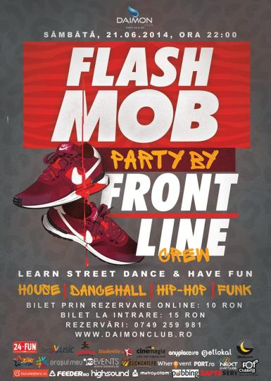 poze flash mob party by frontline crew daimon pool club