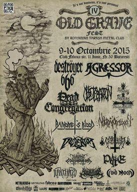 poze agressor si baphomet s blood la old grave fest 2015