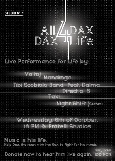poze all 4 dax dax 4 life la club fratelli din bucuresti