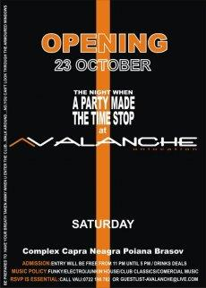 poze avalanche opening party