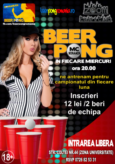 poze beer pong party la zoom cafe by mc scraach