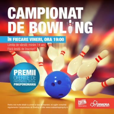 poze campionate de bowling la cortina in oradea shopping city