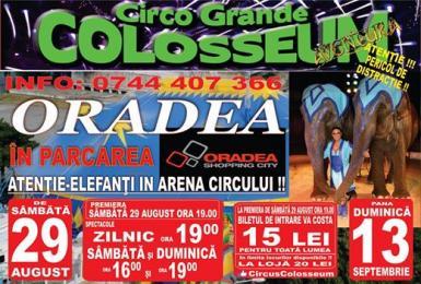 poze circul colosseum este in parcarea oradea shopping city