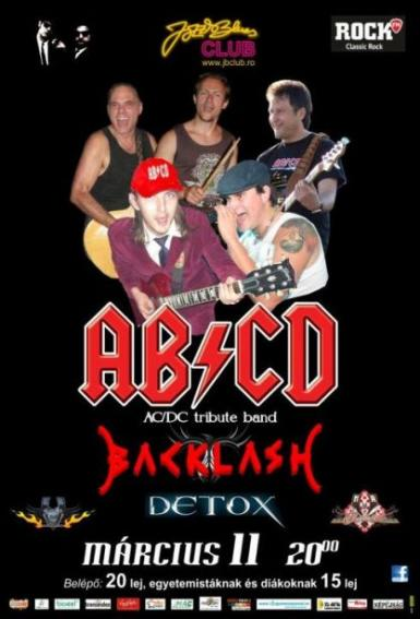 poze concert ac dc tribut band blacklash si detox in jazz blues club