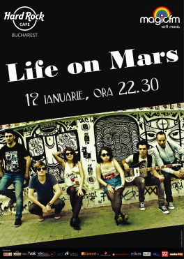 poze concert life on mars in hard rock cafe
