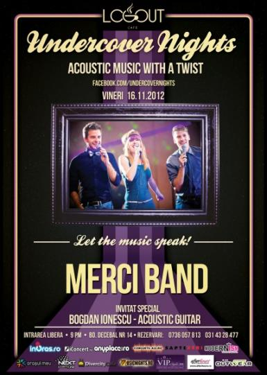 poze concert merci band in log out cafe