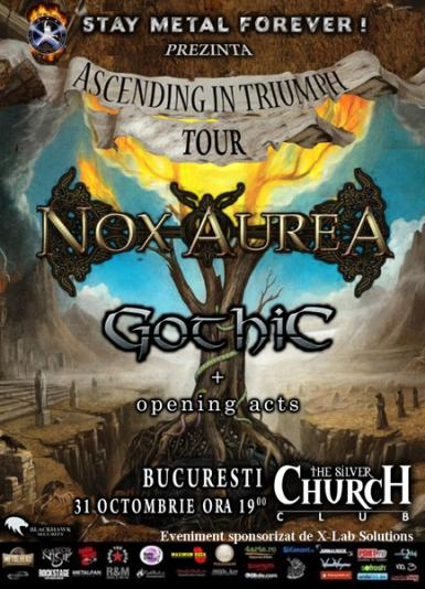 poze concert nox aurea si gothic la the silver church din bucuresti