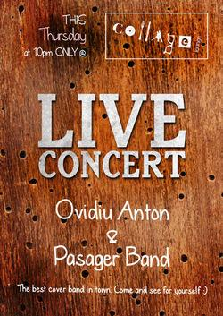poze concert ovidiu anton pasager band in collage club