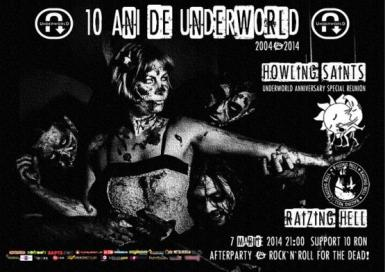 poze concert raizing hell si howling saints in underworld club