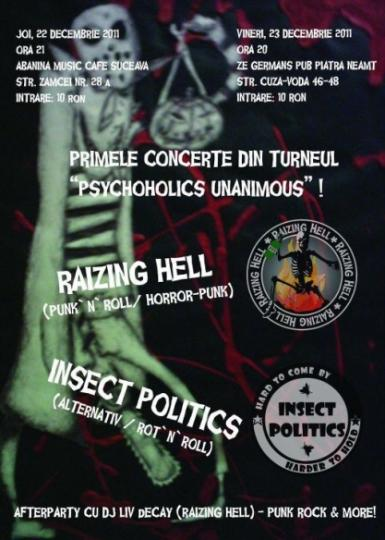 poze concert raizing hell si insect politics in piatra neamt