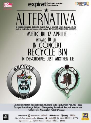 poze concert recycle bin si just another lie in club expirat