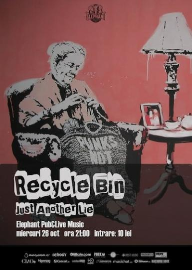 poze concert recycle bin si just another lie in club underworld