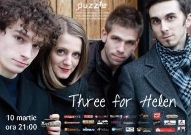 poze concert three for helen in puzzle cafe