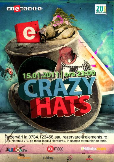 poze crazy hats club elements