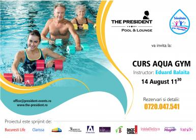 poze curs aqua gym la the president pool lounge
