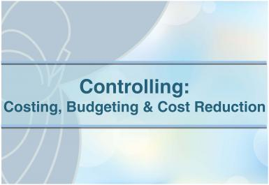 poze curs controlling costing budgeting cost reduction