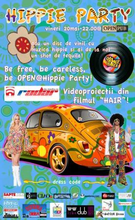 poze hippie party in open pub