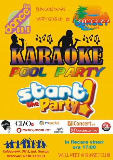 poze karaoke pool party sunset club