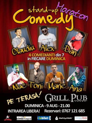 poze maraton stand up comedy in grill pub