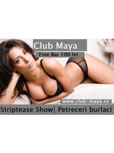 poze maya party si stripteasse show