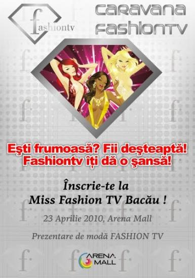 poze miss fashion tv bacau in arena mall