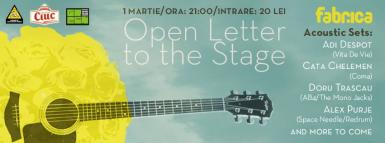 poze open letter to the stage in club fabrica