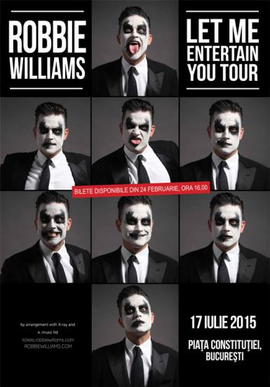 poze robbie williams in romania in 2015