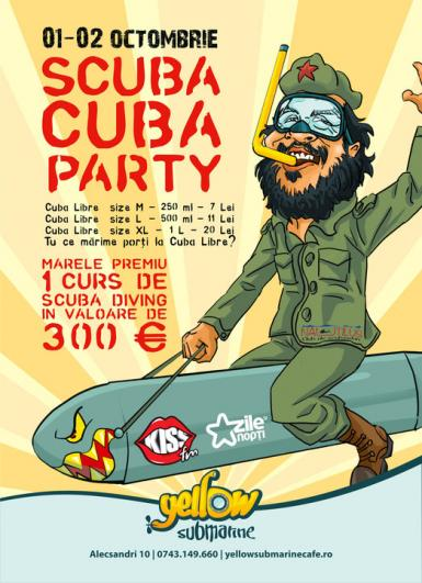 poze scuba cuba party in yellow submarine oradea