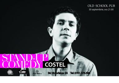 poze stand up comedy cu costel in old school pub