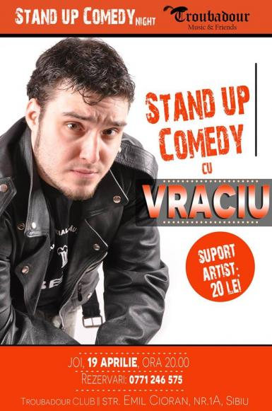 poze stand up comedy cu vraciu la troubadour club