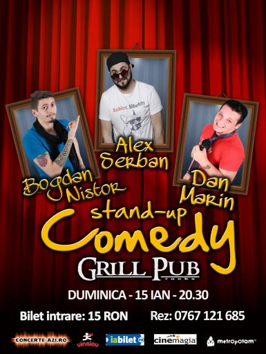 poze stand up comedy in grill pub