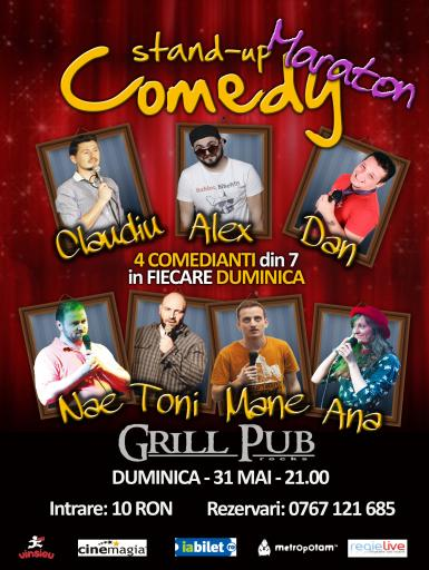 poze stand up comedy maraton