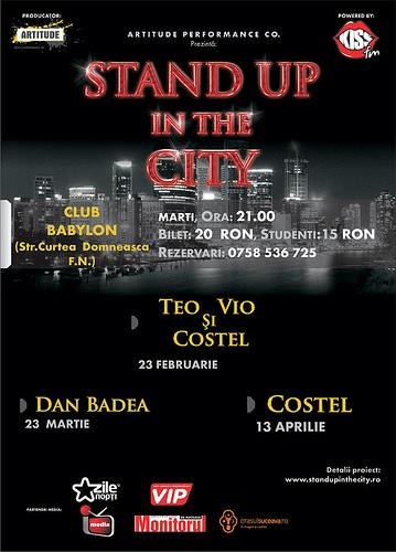 poze stand up in the city teo vio si costel