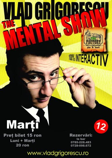 poze stand up magic the mental show cu vlad grigorescu in the factory pub