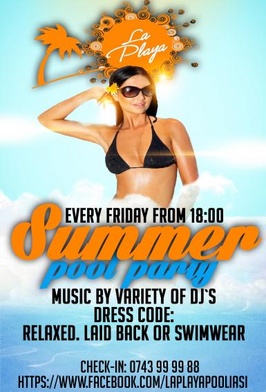 poze summer night swimming pool party