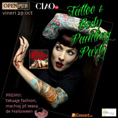 poze tattoo body painting party la open pub