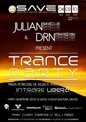 poze trance party in save club roman