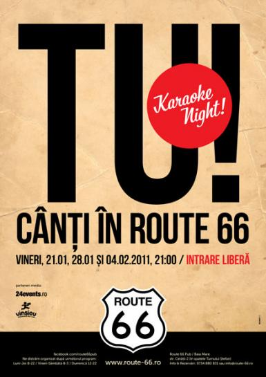 poze tu canti in route 66 karaoke night