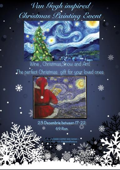 poze van gogh inspired christmas painting event