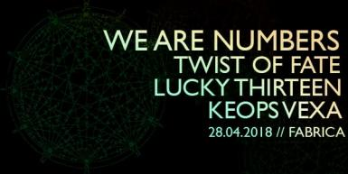 poze we are numbers twist of fate keops vexa si lucky thirteen